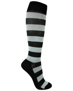 Stödstrumpa black stripe
