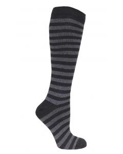 Stödstrumpa dark stripe