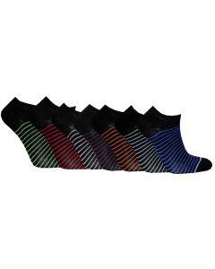 Korta skaft svart stripe 7-pack