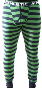 Långkalsong green stripe