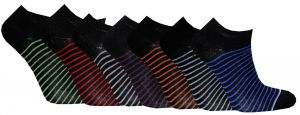 Korta skaft svart stripe 7-pack