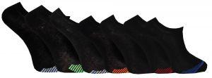 Korta skaft svart tå 7-pack