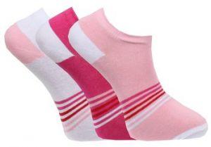 Strumpor korta skaft rosa 3-pack